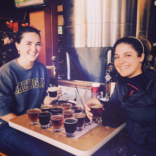 Enjoying beer at Tommyknocker Brewery and Pub in Idaho Springs, CO