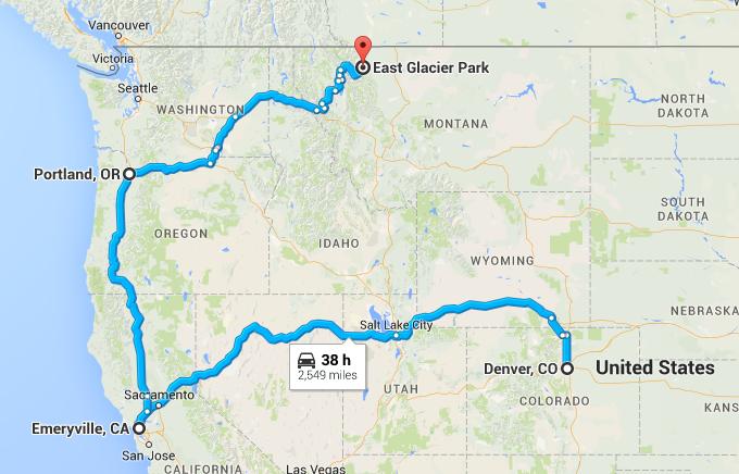 Denver to Glacier National Park on Amtrak