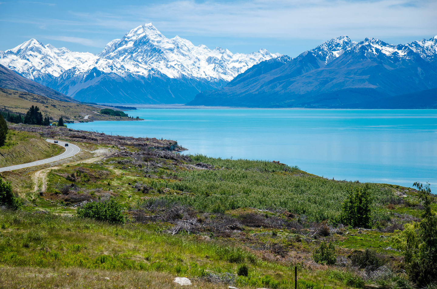 """New Zealand's highest peak Mt. Cook and Lake Pukaki were used as backdrop in """"The Lord of the Rings"""" and """"The Hobbit"""" movies."""