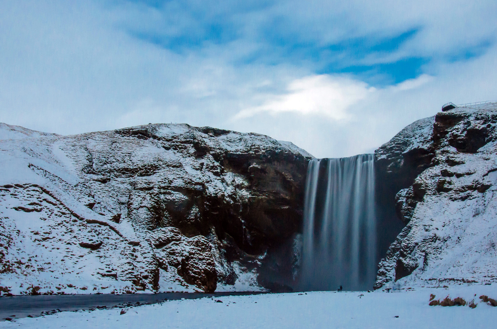 Skógafoss, one of the biggest waterfalls in the country, is a waterfall situated in the south of Iceland on the way to Vík.