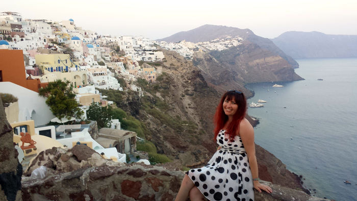 My 30th birthday, Santorini, Greece